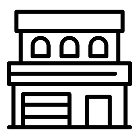 Modern house icon, outline style