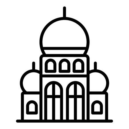 Turkish palace icon, outline style