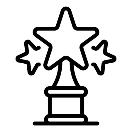 Star award icon. Outline star award vector icon for web design isolated on white background