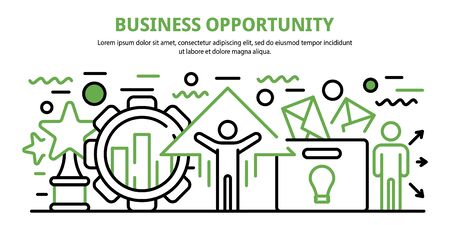 Business opportunity concept banner. Cartoon illustration of business opportunity vector concept banner for web design