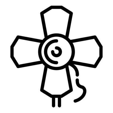 Cinema spotlight icon, outline style