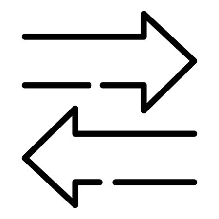 Arrows left and right icon, outline style