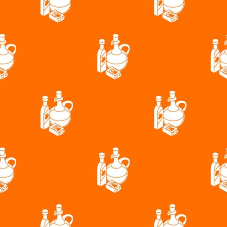 Organic eco food pattern vector orange for any web design best Ilustracja