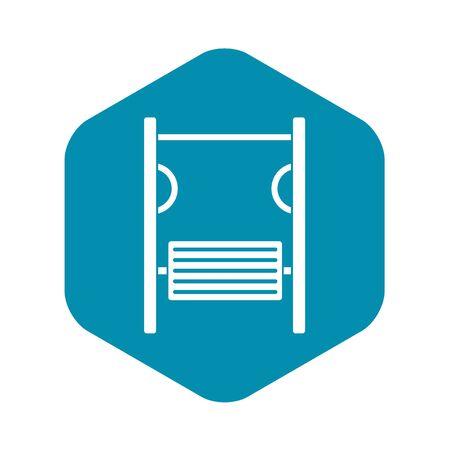 Playground simulator icon. Simple illustration of playground simulator vector icon for web