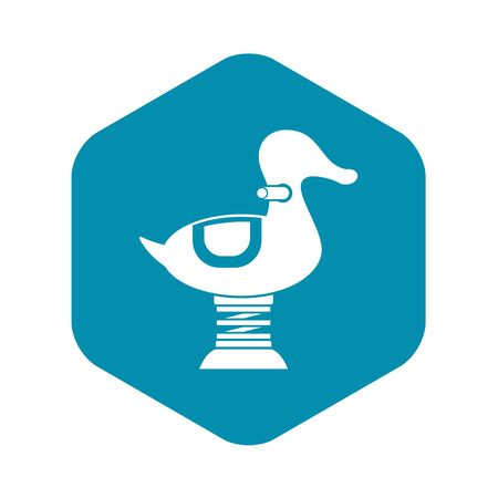 Duck spring see saw icon. Simple illustration of duck spring see saw vector icon for web