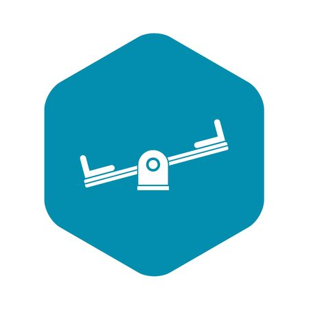 Seesaw icon. Simple illustration of seesaw vector icon for web