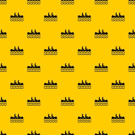Canoeing pattern seamless vector repeat geometric yellow for any design 일러스트
