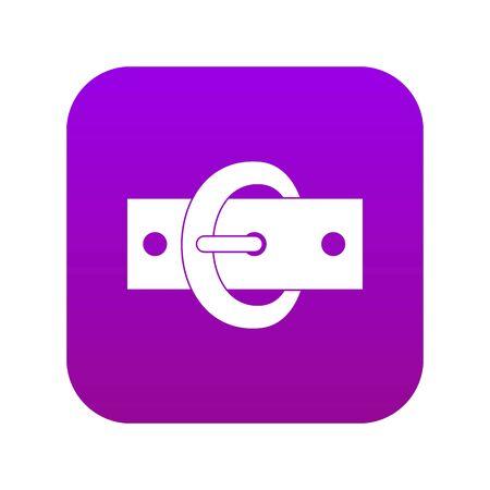 Buckle belt icon digital purple