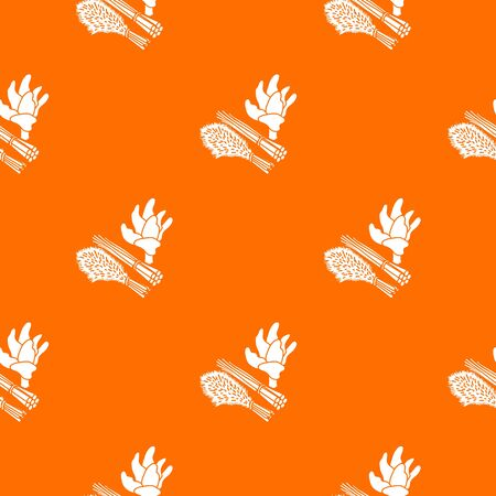 Green food plant pattern vector orange for any web design best