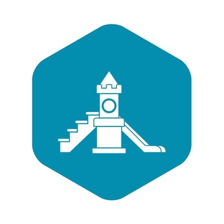 Slider, kids playground equipment icon. Simple illustration of slidervector icon for web