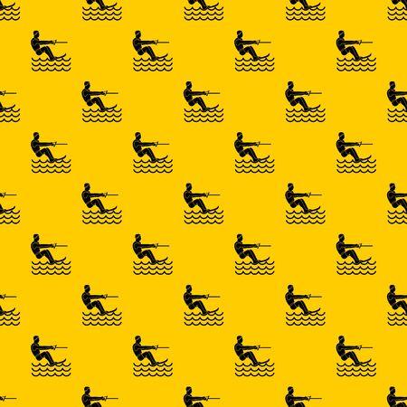 Wasserski Mann Muster nahtlose Vektor wiederholen geometrische gelb für jedes Design