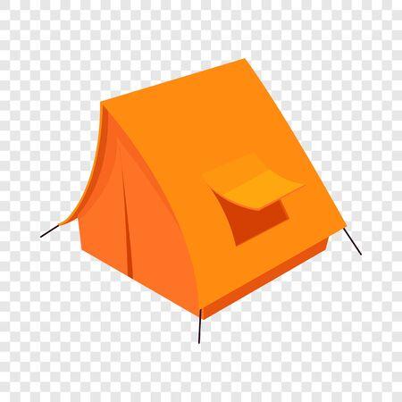 Tent icon, isometric 3d style