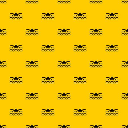 Butterfly swimmer pattern seamless vector repeat geometric yellow for any design Ilustração