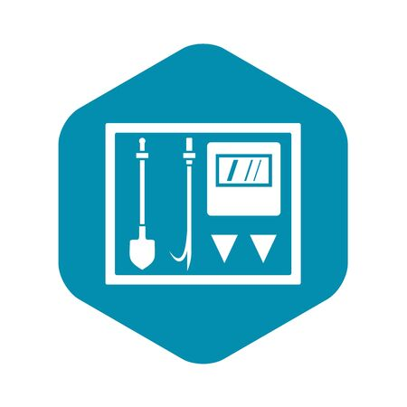 Fire shield icon. Simple illustration of fire shield vector icon for web Stock Illustratie