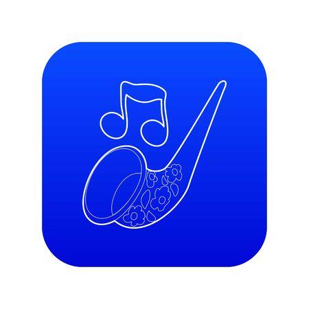 Saxophone icon blue vector