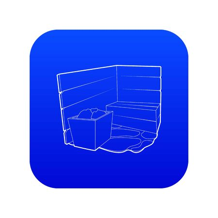 Sauna icon blue vector