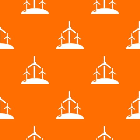 Energy windmill pattern vector orange for any web design best