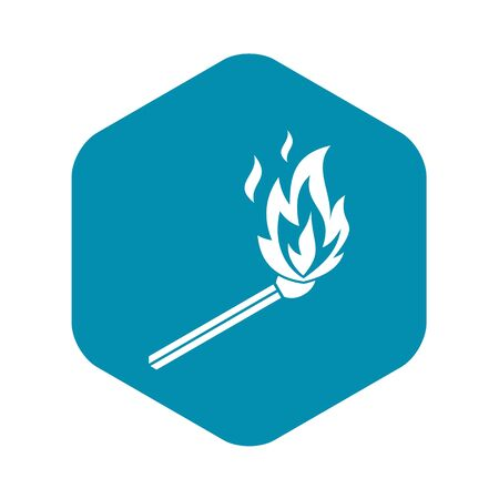 Match flame icon. Simple illustration of match flame vector icon for web