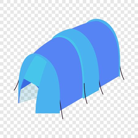 Blue tent icon. Isometric illustration of blue tent vector icon for web Illustration