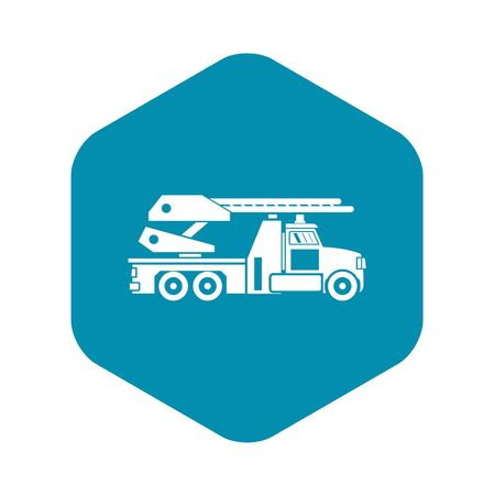 Fire engine icon. Simple illustration of fire engine bread vector icon for web Banque d'images - 130254213