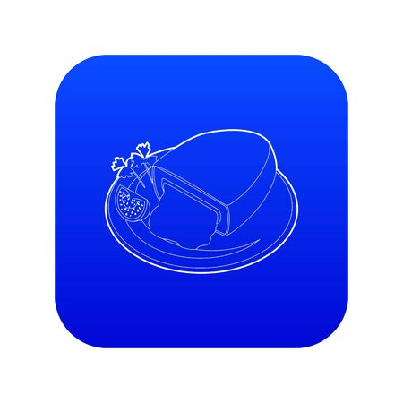 Kiev cutlet icon blue vector Иллюстрация