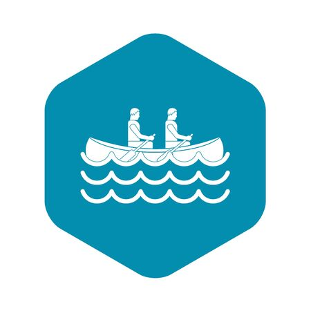 Canoeing icon. Simple illustration of canoeing vector icon for web