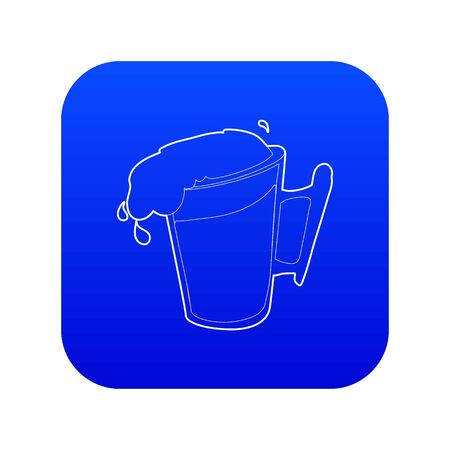 Beer icon blue vector Illustration