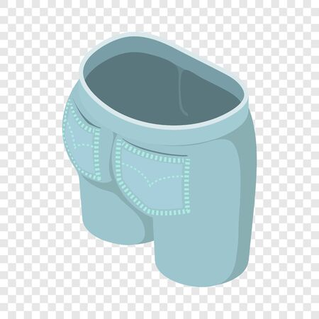 Jeans icon. Isometric illustration of jeans vector icon for web