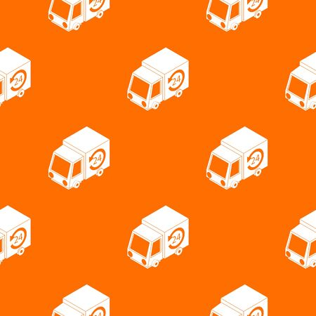 24 hour delivery pattern vector orange for any web design best