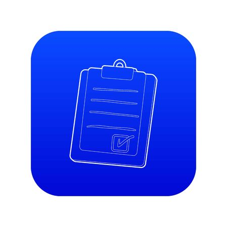 Plane tablet icon blue vector