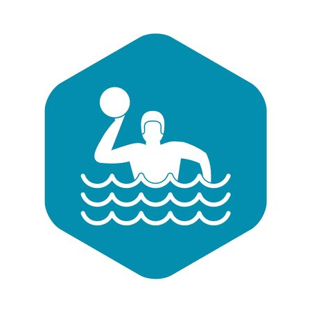 Water polo icon. Simple illustration of water polo vector icon for web