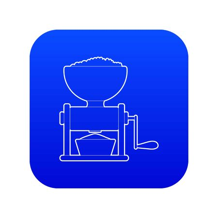 Meat grinder icon blue vector