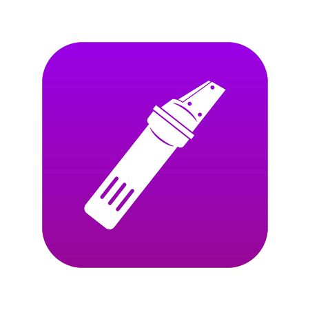 Glass cutter icon digital purple for any design isolated on white vector illustration