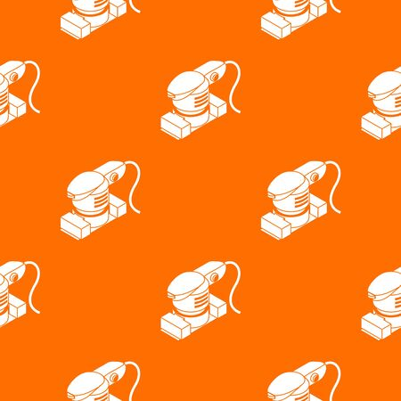 Sheet sander pattern vector orange for any web design best Stock Illustratie