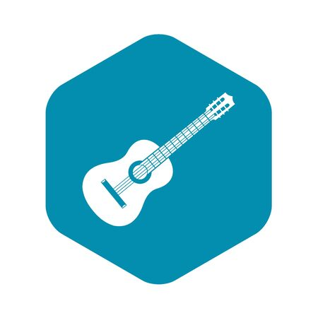 Guitar icon. Simple illustration of guitar vector icon for web