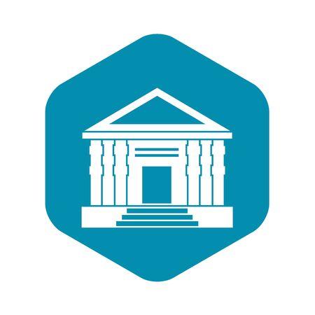 Colonnade icon, simple style Vettoriali