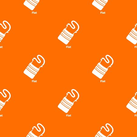 Flat bag pattern vector orange for any web design best