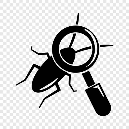 Search insect icon. Simple illustration of search insect vector icon for web