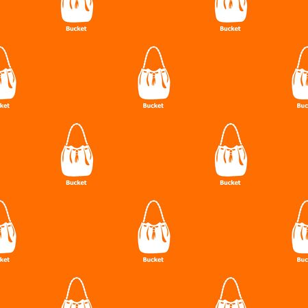 Bucket bag pattern vector orange for any web design best Иллюстрация