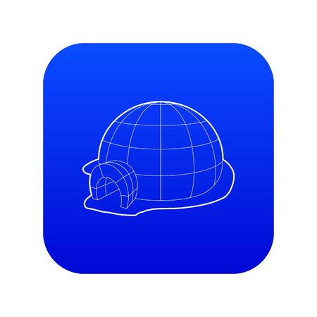 Igloo icon blue vector Illustration