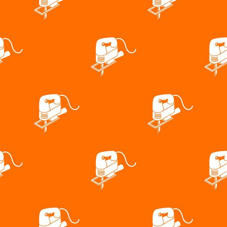 Corded jig saw pattern vector orange for any web design best