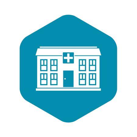 Hospital icon. Simple illustration of hospital vector icon for web Ilustração