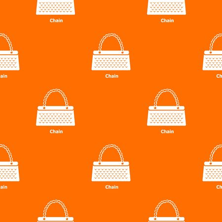 Chain bag pattern vector orange for any web design best