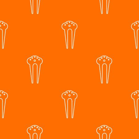 Hair fix clip pattern vector orange for any web design best
