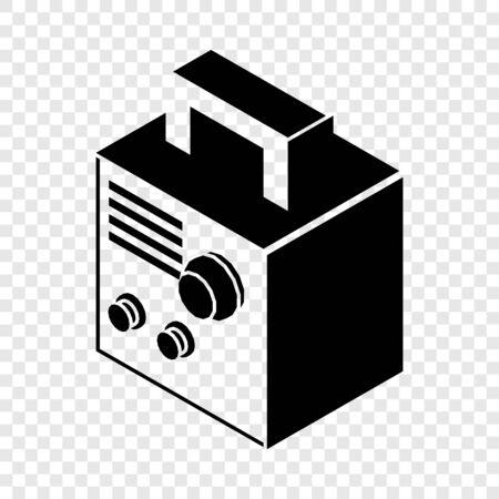 Electro welding machine icon, simple black style
