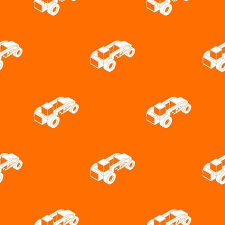 Heavy load truck pattern vector orange for any web design best