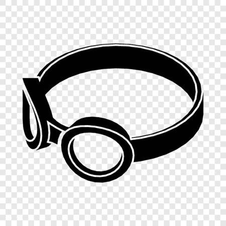 Glasses welding mask icon. Simple illustration of glasses welding mask vector icon for web