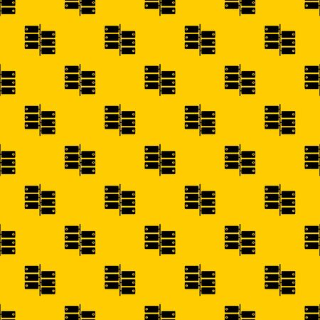 Infographic blocks on signpost pattern seamless vector repeat geometric yellow for any design  イラスト・ベクター素材