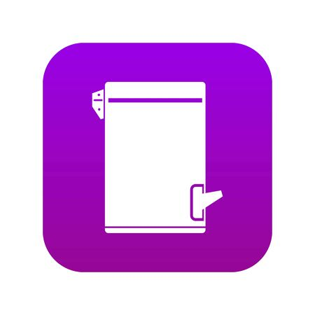 Trash can icon digital purple for any design isolated on white vector illustration Ilustração