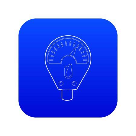 Parking meter icon blue vector isolated on white background Ilustração